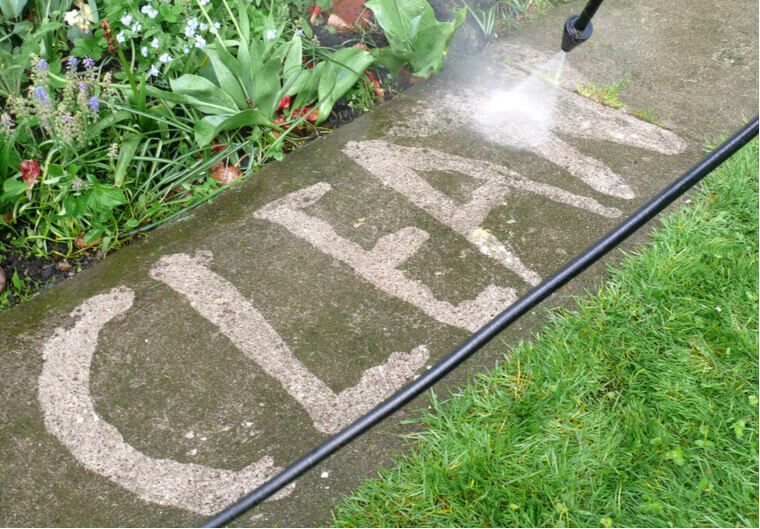 patio high pressure cleaning