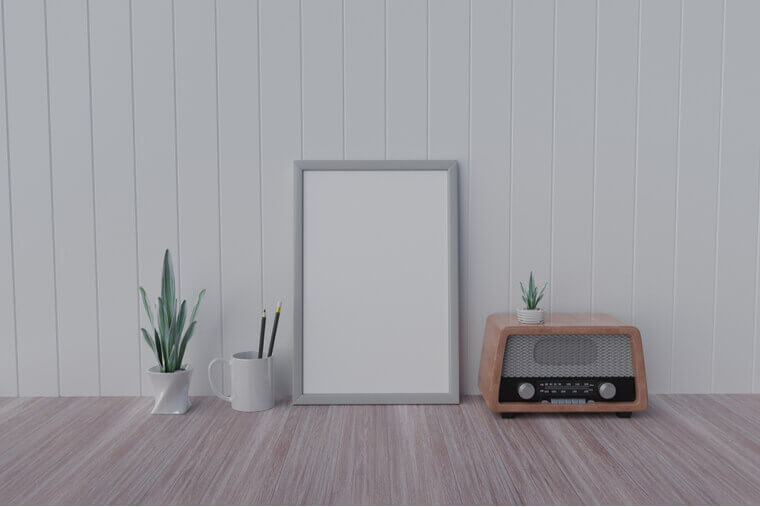 picture frame concept 3d rendering