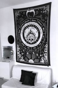 Gothic Artwork on Tapestry