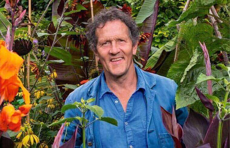 Monty Don surrounded by plants